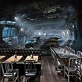 XZDXR Photo 3D Stéréo Cosmique Mural Navire Navire Mural Restaurant Bar Studio Personnalisé Fond D'Écran HD, 350X256Cm