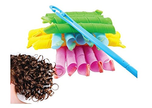 QiangWei 18 Lockenwickler, weich, flexibel, Locken, Haar, schafft Locken, lockig, Frisur