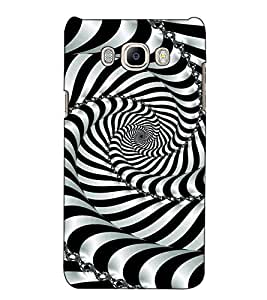 Fuson Designer Back Case Cover for Samsung Galaxy On Nxt (2016) (Balck White Design Pattern)