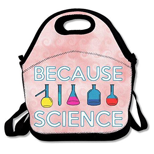 hoeless ya que la ciencia-Bolsa para el almuerzo térmica con cremallera, asa y correa para el hombro para adultos o niños negro