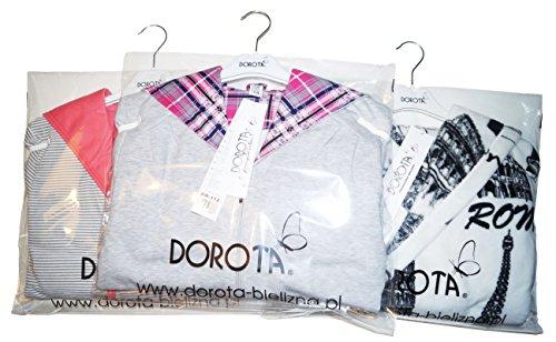 Dorota edler Bademantel im trendigen Muster mit zarter Kapuze, Taschen und Bindegürtel Rosa