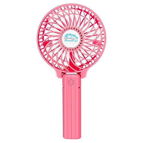 MaiMai Mehrzweck USB-Schreibtisch-Fan, wiederaufladbar Fan, Mini Fan, Clip auf Fan, Handheld Fans Kühlung für Office Home Camping Outdoor Aktivitäten (3Speed Einstellungen) rose Lasko Kleinen Fan