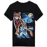 3D Wolf T Shirt Mens 3D Indianer Wolf Print T Shirts Cotton Wolves Männer T-Shirt Lässige Man Tees Mens Tops TXSMT11 XXL