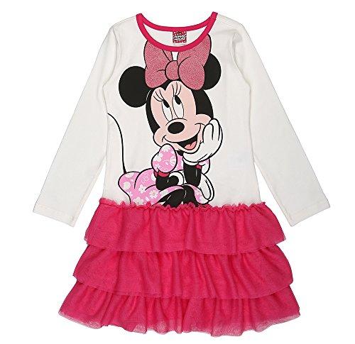 Disney ragazze minnie mouse vestito, rosa, taglia 116, 6 anni