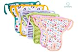 #8: Nappy Pads for Babies - Set of 6 Pcs/Hosiery Cotton Diapers for Babies/Langot for Baby # 0-3 months # Nappy Pads For New Born Baby # Assorted Designs # Washable and Reusable # Pack of 6 by Dolphers