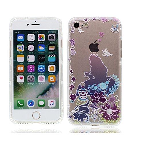 iPhone 7 Custodia, Prova di scossa anti-graffio [ Disney Cartoon sirena blu ] TPU Silicone Trasparente Nuovo Gel Soft Case iPhone 7 Custodia (4,7 pollici) durevole Cartoon Cover # # 6