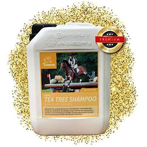EMMA ⭐ Pferdeshampoo, Spar-Set I Shampoo für Pferde & Hunde mit Teebaum-Öl I ph-neutral & mild I empfindliche Haut I Ekzem I Juckreiz & Schuppen, 2500 ml - Öl Feuchtigkeitsspendende Shampoo