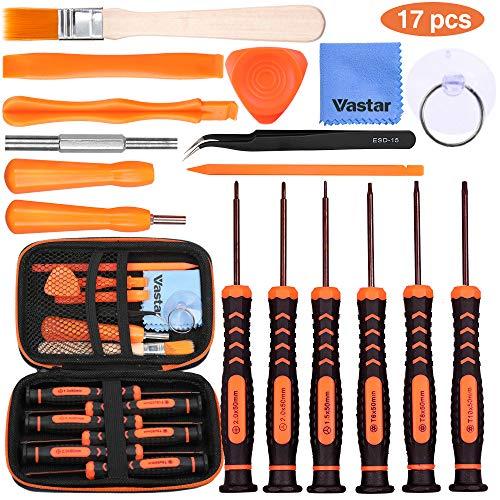 Vastar Schraubendreher für Nintendo Werkzeug Set 17 Stück für Nintendo New 3DS und Wii /NES/SNES /NDS / NDSL /XL 2DS/ GBA/Gamecube Reparatur Werkzeuge Set