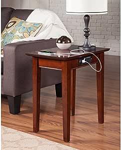 Amazon.de: Shaker USB Steckdosen Walnuss Holz Beistelltisch