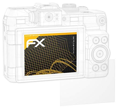 atFoliX Panzerfolie kompatibel mit Leica M-E Typ 240 Schutzfolie, entspiegelnde und stoßdämpfende FX Folie (3X)