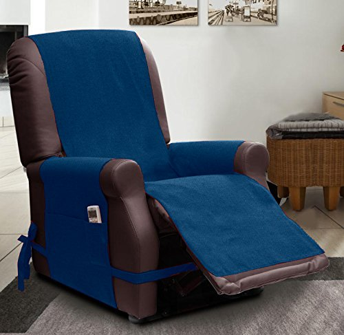 scudo recliner armchair covers relax blue amazoncouk kitchen u0026 home