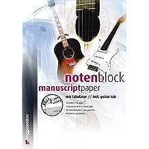 Notenblock mit Tabulatur (Voggenreiter Verlag)