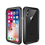 Custodia impermeabile iPhone X,iPhone X Waterproof Case,Snewill [IP68 Certified]Wireless Charging Support iPhone X Underwater Shockproof Full-body Case with Built-in Screen Protector for Apple iPhone X/iPhone 10-Black