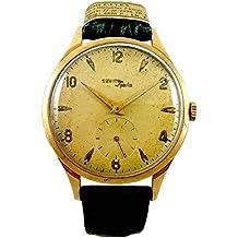 86e7e40c27d Zenith Orologio Uomo Analogico Meccanico Cinturino in Pelle Vintage Oro 18  kt