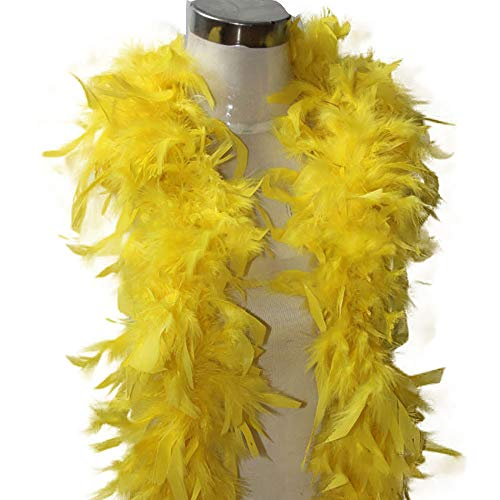 NEEKY Femmes châle en écharpe, Echarpe en Coton Quality White Feather Boa Flapper Hen Night Burlesque Dance Party Show Costume