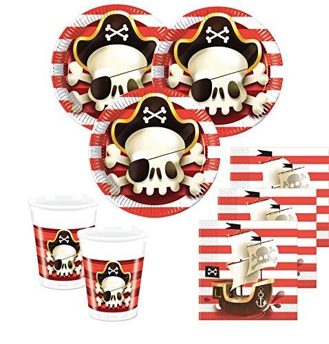 36 Teile Piraten Jolly Roger Totenkopf Party Deko Set 8 Kinder -