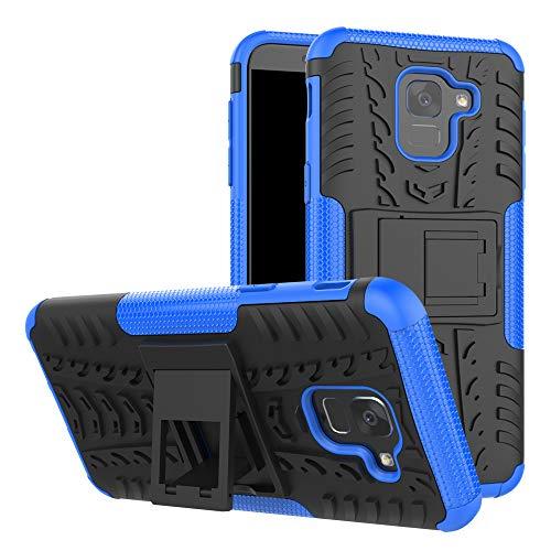betterfon   Outdoor Handy Tasche Hybrid Case Schutz Hülle Panzer TPU Silikon Hard Cover Bumper für Samsung Galaxy J6 SM-J600 Blau Hybrid Tpu-hülle