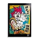Son Goku Super Saiyan de Dragon Ball (Akira Toriyama) - Illustration Originale Encadrée, Pop-Art Peinture, Presse Artistique, Poster, Toile Imprimée, Image sur Toile, Affiche d'Art, Affiche de Film, Anime, Manga
