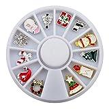 Overlay Rondell 12 Xmas Charms für Weihnachten und Winter 3D Nailart Schmuck