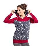Viva la Mama I Umstandskleidung Damen Schwangerschaftspullover Stillshirt Winter Warm Lang I Elise - Bordeaux - M