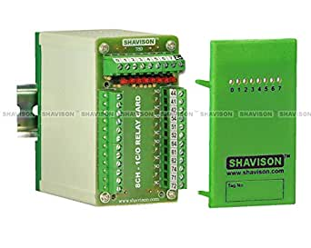 Shavison Space Saver Relay Module AS789-24V-N-OE, 1C/O, 8 Channel, 24VDC Coil, OEN Relay, -Ve Looped Coils, Soldered Relay, Reverse Blocking Diode, Contact Rating : 28VDC/230VAC, 5A