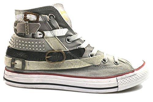 Scarpe uomo HAPPINESS 41 sneakers grigio tessuto camoscio AS787