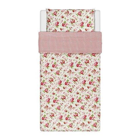 IKEA ROSALI Bettwäscheset in weiß; 100% Baumwolle; 2tlg.; (140x200cm und