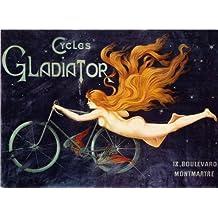 Disfraz de gladiador par hombre ciclos de ciclismo Vintage 250gsm cuadro decorativo brillante A3 de póster