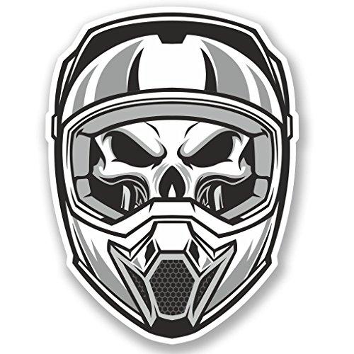 Preisvergleich Produktbild 2x Motocross Helm Vinyl Aufkleber Aufkleber Laptop Reise Gepäck Auto Ipad Schild Fun # 5012 - 30cm/300mm Wide