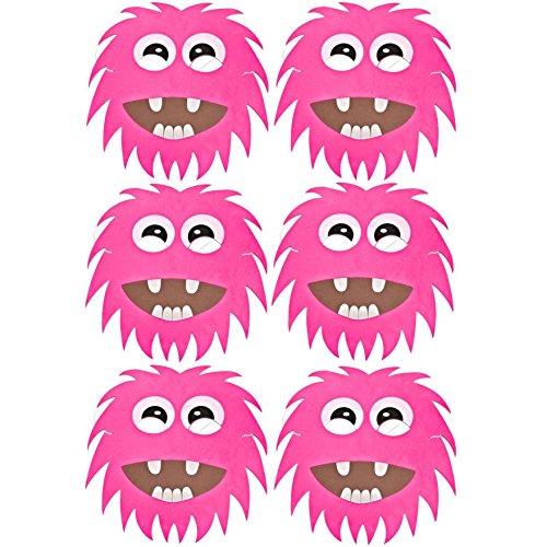 Blue Frog Toys 6Pink Monster/Alien Face Masken aus Schaumstoff-Kinder-Masken hergestellt von Frosch blau Spielzeug