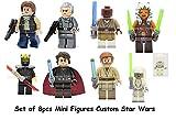Juegos de construccion - Blocks - 8pcs Minifigure - Jedi consular Young Han Solo Grand Moff Tarkin Savage Opress Obi-Wan Kenobi pilot Mace windu Ahsoka Tano - Star Wars - minifigura Star wars Jedi - générica