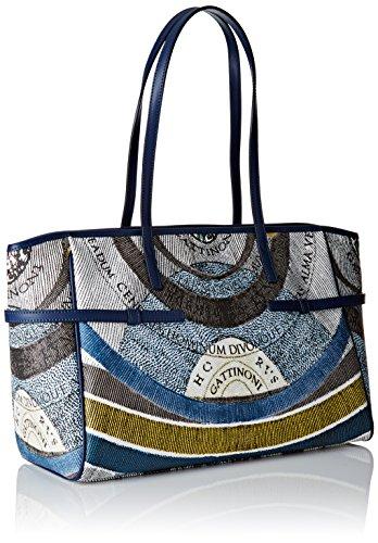 GATTINONI Gacpu0006163, sac bandoulière Blu (Luna)