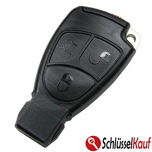 Mercedes Benz auto Juego de llaves 3botones llave Carcasa + Llave en blanco + Batería)