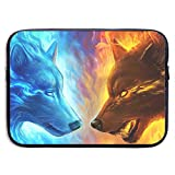 ASKSWF Computertasche Computer Bag Laptop Case Slim Sleeve Water Wolf VS Fire Wolf Waterproof 15 Inch IPad MacBook