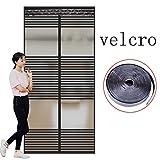 Velcro Magnetische Fliegengitter,Mesh Moskitonetz zum aufhängen Tür Sommer Für Home Schlafzimmer Küche Markt Hohe denisity Abgeschnitten Winddicht-W 95x200cm(37x79inch)