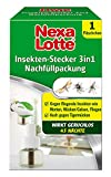 Nexa Lotte Insekten-Stecker 3in1 Nachfüller, wirkt 45 Tage gegen Motten, Fliegen, Fruchtfliegen, Essigfliegen, Stechmücken, Schnaken, Mücken, elektrisch, Mückenschutz, Abwehr, geruchslos, 35 ml