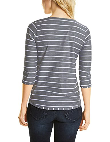 Cecil T-Shirt Manches Longues Femme Grau (Graphit Light Grey 30498)