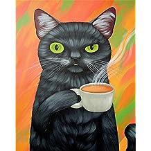 XDXART DIY Pintura al óleo Pintura guiada por número Kit para niños Adultos Principiantes 16 x