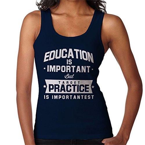 Coto7 Education is Important but Target Practice is Importantest Women's Vest - Airsoft Scifi Guns