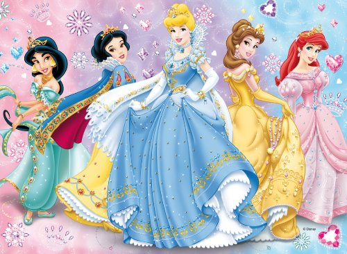 Clementoni 20019.1 Dressed to Shine - Puzzle, diseño Princesas Disney (104 Piezas)