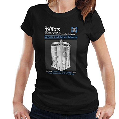 Doctor Who Tardis Service And Repair Manual Women's T-Shirt Black