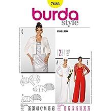 Burda Ladies Sewing Pattern 7686 - Boleros Sizes: 10-22 by Burda