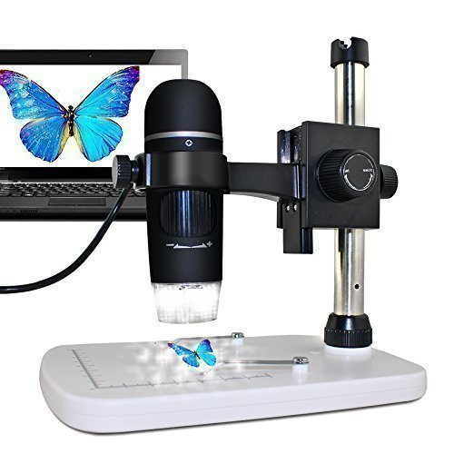 MAOZUA 5MP 20x-300x Magnifier Microscopio USB 5MP con Soporte Base Pro