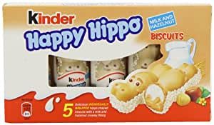 Kinder Happy Hippo Hazelnut 5 x 103.5 g (Pack of 10, Total 50 Bars)