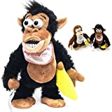 Battery Operated 27cm Singing Dancing Rapper Monkey Toy - Black Chimp