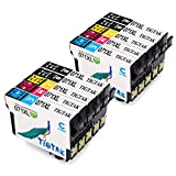 Tigtak Ersatz für Epson T0715 Druckerpatronen T0711 T0712 T0713 T0714 Patronen Kompatibel für Epson Stylus S20 Stylus Office BX300F BX610FW SX100 D92 SX400 SX200 DX4400 DX8400 SX210