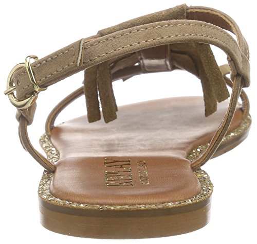 REPLAY - Eylow, Scarpe col tacco con cinturino a T Donna Beige (Beige (BEIGE 2))