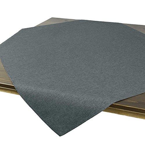 Tovaglia da tavola vienna antracite grigio, resinata antimacchia, adatta a tutto l'anno, quadrata 85x85 cm
