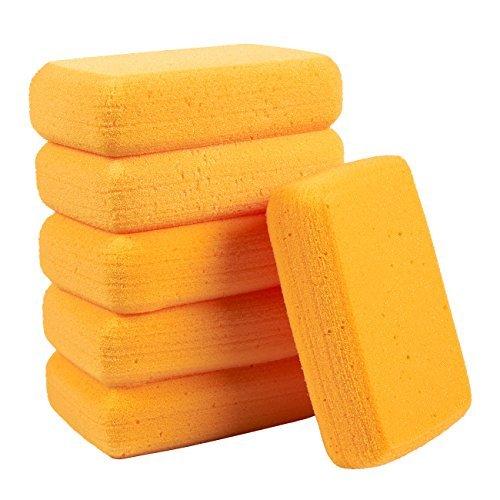 synthetische Schwämme - große Bastelschwämme - Ideal für Malen, Basteln, Töpferei, Ton, Haushalt, 19,1 x 5,1 x 12,7 cm, Orange ()