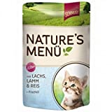 24 x Schmusy Natures Menü Kitten Lachs 100g, Feinschmeckerpaste, Nassfutter